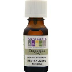 AURA CACIA Cinnamon Leaf 100% Pure Essential Oil .5 fl.oz