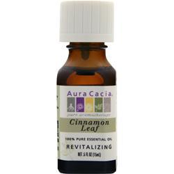Aura Cacia Cinnamon Leaf 100% Pure Essential Oil .5 fl.oz