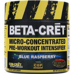 CON-CRET Beta-Cret Micro-Concentrated Pre-Workout Intensifier Blue Raspberry 5.52 oz