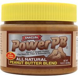 SnacLite PowerPB - All Natural Peanut Butter Blend 1 lbs