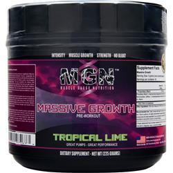 MGN Massive Growth Pre-Workout Tropical Lime 225 grams
