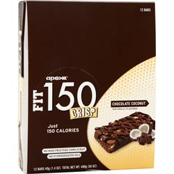 APEX Fit 150 Crisp Bar Chocolate Coconut 12 bars