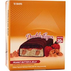 APEX Fit Protein Bar - Double Layer Peanut Butter & Jelly 12 bars