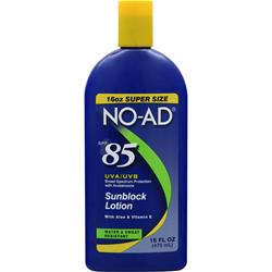 NO-AD Sunblock Lotion SPF 85 16 fl.oz