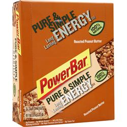 POWERBAR Pure & Simple Long Lasting Energy Bar Roasted Peanut Butter 15 bars