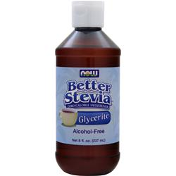 NOW Better Stevia Glycerite - Zero Calorie Sweetener (Alcohol-Free) 8 fl.oz