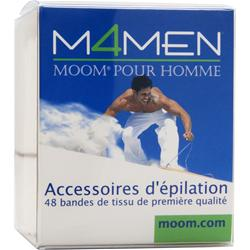 Moom Moom For Men - Hair Removal Premium Fabric Strips 48 strip