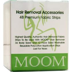 Moom Hair Removal Premium Fabric Strips 48 strip