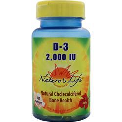 Nature's Life D-3 (2,000IU) 120 sgels