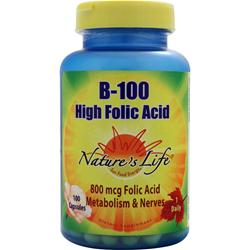 Nature's Life B-100 High Folic Acid 100 caps