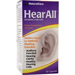 Natural Care HearAll - Hearing For Life 60 caps