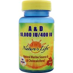 Nature's Life A & D (10,000IU/400IU) 100 sgels