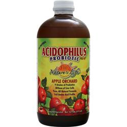 NATURE'S LIFE Acidophilus Probiotic Pro-96 Liquid Apple Orchard 16 oz