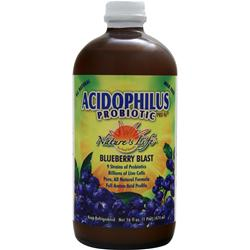 Nature's Life Acidophilus Probiotic Pro-96 Liquid Blueberry Blast 16 oz