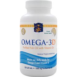 NORDIC NATURALS Omega-3D Lemon 120 sgels