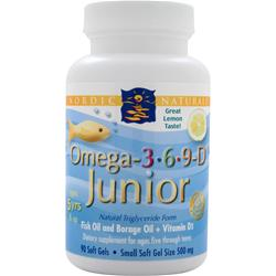 Nordic Naturals Omega-3-6-9-D Junior Lemon 90 sgels