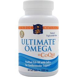 Nordic Naturals Ultimate Omega + CoQ10 60 sgels