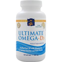 NORDIC NATURALS Ultimate Omega-D3 Lemon 120 sgels