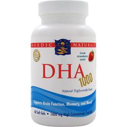 Nordic Naturals DHA Xtra Strawberry 60 sgels