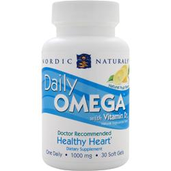 NORDIC NATURALS Daily Omega with Vitamin D3 Natural Fruit Flavor 30 sgels