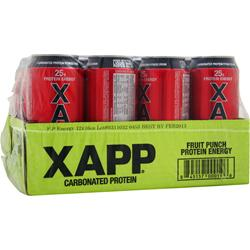 DESIGNER WHEY Xapp Carbonated Protein RTD Fruit Punch 12 bttls