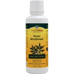 THERANEEM ORGANIX Neem Mouthwash Herbal Mint Therape 16 fl.oz