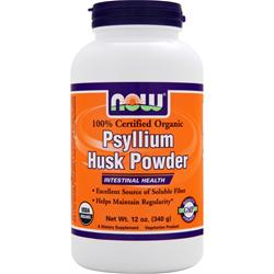 NOW Psyllium Husk Powder - Certified Organic 12 oz