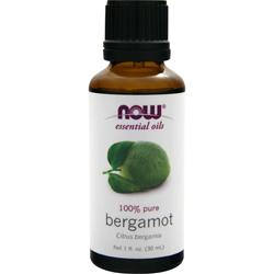 NOW Bergamont Oil - 100% Pure 1 oz