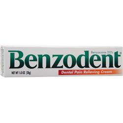 CHATTEM Benzodent - Dental Pain relieving Cream 1 oz