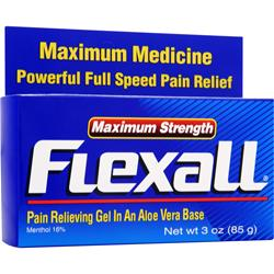 CHATTEM Flexall Pain Relieving Gel - Maximum Strength 3 oz
