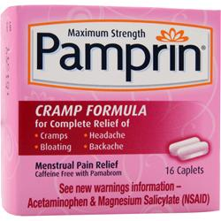 CHATTEM Pamprin Cramp Formula - Maximum Strength 16 cplts