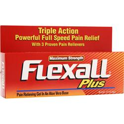 Chattem Flexall Plus Pain Relieving Gel - Maximum Strength 4 oz