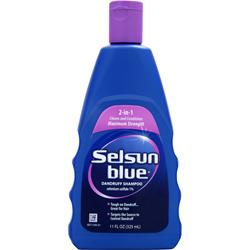CHATTEM Selsun Blue Dandruff Shampoo - 2 in 1 11 oz