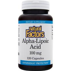 NATURAL FACTORS Alpha-Lipoic-Acid (100mg) 120 caps