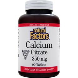 NATURAL FACTORS Calcium Citrate (350mg) 90 tabs