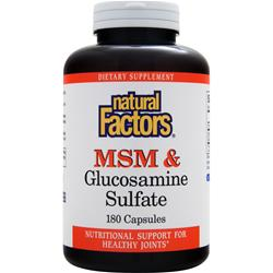 NATURAL FACTORS MSM & Glucosamine Sulfate 180 caps