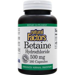 Natural Factors Betaine Hydrochloride (500mg) 180 caps