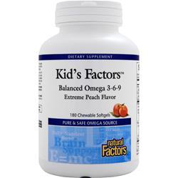 Natural Factors Kid's Factors Balanced Omega 3-6-9 Extreme Peach 180 chews