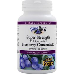 Natural Factors BlueRich - Super Strength Blueberry Concentrate (500mg) 90 sgels