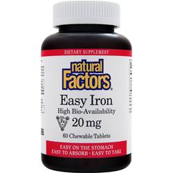 NATURAL FACTORS Easy Iron (20mg) 60 chews