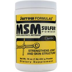JARROW MSM Sulfur Powder 1 lbs