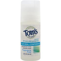TOM'S OF MAINE Crystal Confidence Deodorant Fragrance-Free 2.4 fl.oz