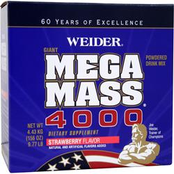WEIDER Giant Mega Mass 4000 Strawberry 9.77 lbs