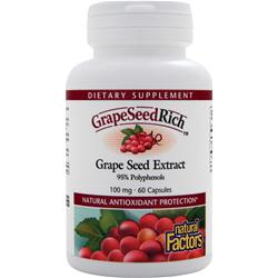 NATURAL FACTORS GrapeSeedRich - Grape Seed Extract (100mg) 60 caps