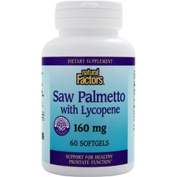 NATURAL FACTORS Saw Palmetto with Lycopene (160mg) 60 sgels