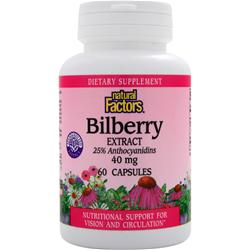 NATURAL FACTORS Bilberry Extract (40mg) 60 caps