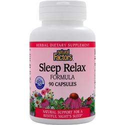 NATURAL FACTORS Sleep Relax Formula 90 caps