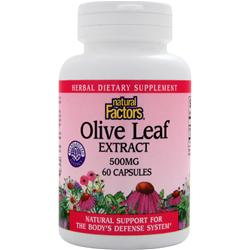 NATURAL FACTORS Olive Leaf Extract (500mg) 60 caps