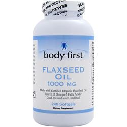 Body First Flax Seed Oil (1000mg) - Certified Organic 240 sgels
