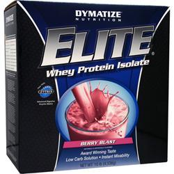 DYMATIZE NUTRITION Elite Whey Protein Isolate Berry Blast 10 lbs